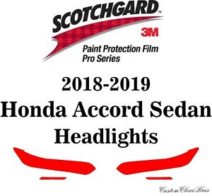 3M Scotchgard Paint Protection Film Pro Series 2018 2019 Honda Accord Sedan