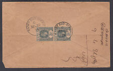 Ceylon Sc 228 vertical pair on 1924 Cover, KANDY to COLOMBO