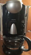 Krups Fresh Aroma 10 Cup Coffee Maker Built in Bean Grinder F625 Art Deco Carafe