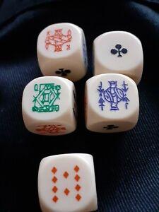 Vintage Set of 5 Poker Dice