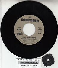 "THE BYRDS Turn! Turn! Turn! & Eight Miles High 7"" 45 record NEW + jukebox strip"