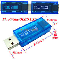 0-3A OLED USB Charger Capacity Power Current Voltage Detector Tester Meter