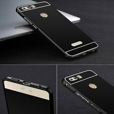 Pare-chocs en aluminium 2 éléments avec couvercle noir pour Huawei Honor 8