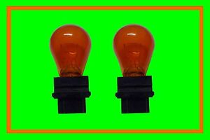 2x Indicator Bulb T25 Chrysler Dodge Chevrolet GM Hummer Buick Jeep USA Orange