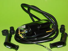 1x new Kawasaki KZ400 KZ440 Z1 KZ650 KZ750 KZ900 4 Ohm Ignition coil w/ plug cap