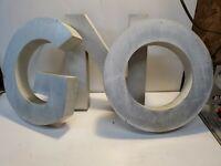 "Vintage 1960's Industrial Metal 10"" Letters, Cast Aluminum 23 letters in total."