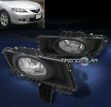 2007 2008 2009 MAZDA 3 MAZDA3 SEDAN 4DR BUMPER FOG LIGHT CHROME W/WIRING HARNESS