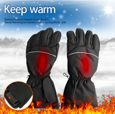 UK Electric Rechargeable Battery Heated Touchscreen Winter Hand Warm Gloves
