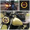 1 x Round Shape 6.8'' Motorcycle Cafe Racer LED Retro Headlight Yellow Halo Ring