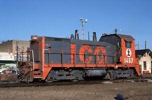 Illinois Central Gulf  SW14 # 1457  @ McComb, MS 3/07/1986
