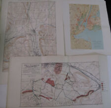 Lot 3 Maps New York City Horseheads Overflow Elmira Frankfort Hill Utica Illus.