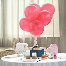 """25 Hot Pink Matte 10"""" Round Latex Balloons Party Wedding Decorations Supplies"""