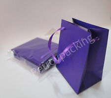 EXTRA SMALL PURPLE PAPER GIFT BAGS PK OF 10 HANDMADE