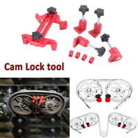 5x Dual Cam Clamp Camshaft Engine Timing Locking Tool Sprocket Gear Kit Red