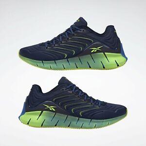 Reebok Chromat Zig Kinetica Men's Sneakers Shoes Navy Blue / Yellow US Size 10