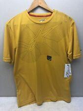 Alpinestars Men Motorbike Moto GP Racing TEE T-shirt - Yellow (Size S)