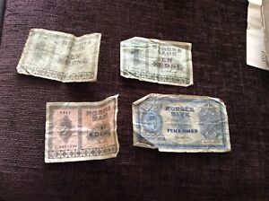 Rare used Norway Norge banknotes 1940s 1 2 5 kroner