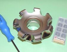 """NEW Tungaloy 4"""" Indexable 45° Face Mill Cutter w/ Inserts (TAW13R400U0150A07)"""