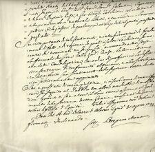 Sentenza di Ferdinando I Borbone di Parma a Firma di Prospero Manara 1781
