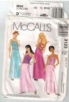 McCalls 3123 Pattern Girls Special Occasion Skirt Top Open Back Sz 7-10 Uncut FF