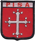 Italy Pisa Flag Shield Embroidered Patch