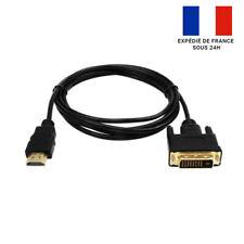 CÂBLE ADAPTATEUR HDMI VERS DVI-D 24+1 PLAQUÉ OR / FULL HD / BLINDAGE