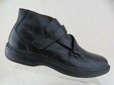 DR. COMFORT Joseph Leather Black Sz 12 M Men Ankle Strap Boots