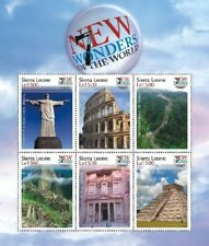 Sierra Leone- 7 Wonders of the World Stamp - Sheet of 6 Mnh