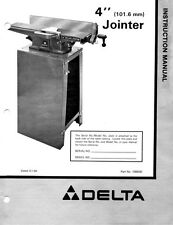"Delta Rockwell 4"" Deluxe Jointer Instructions"