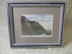 Anthony Cain 'Mountain Art' Clogwyn du'r Arddu Framed Print Signed by Artist