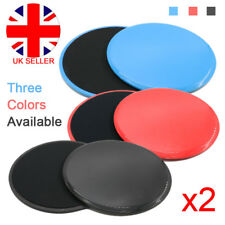 2 x Fitness Exercise Training Round Gliders Workout Leg Slide Discs Core Sliders