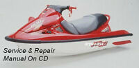 2000-01 Kawasaki 1100 STX D.I. Jet Ski Service Repair Maintenance Manual On CD