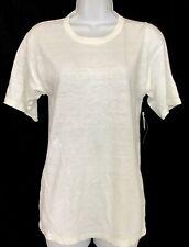 isabel marant Etoile Top White Linen Short Sleeve Nwt Size Xs