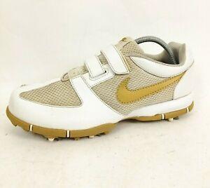 Nike Womens Ladies Ivory White Gold Golf Shoes UK 5 EUR 38.5
