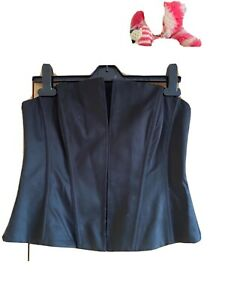 Black Ladies Bodice Front Fastening With Or Without Straps Strapless