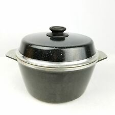 Exceptional KF Kitchen Fair Dutch Oven 8 Quart Black Cast Aluminum Stock Pot With  Speckles