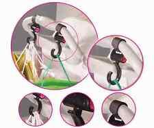 Happy mummy Pram Clips Hooks 2 in a Pack stroller Pushchair Hooks Stroller Clips