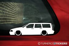 2x LOW Volvo V70 R (1st Gen) estate Wagon silhouette, outline stickers, Decals
