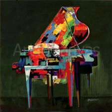 """36""""x36"""" PIANO COLORATURA by P ROBERT COLORFUL ABSTRACT GRAND MUSIC KEYS CANVAS"""