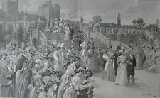 1905 Large Print - Garden Party at Windsor -  Royal Alliance - England & Sweden