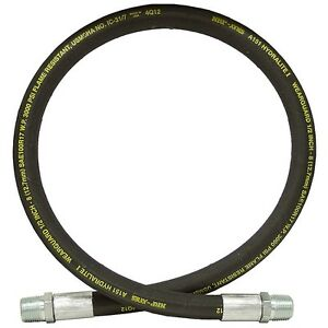 """2 Wire 100R2AT 4000 PSI Flowfit 1//2/"""" Hydraulic Hose with BSPP Fittings"""
