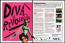 TOMB RAIDER - PowerVR Technology__Original 1997 Print AD promo__LARA CROFT__Diva