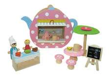 Wooden Toy Collection Preschool Line Tea Pot Cafe House Pretend Play Gift