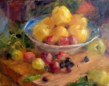 Harvest w Lemons  oil painting still life by Margaret Aycock original