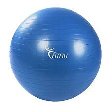 Balón pelota Pilates ejercicio entrenamiento fitness yoga azul 65cm-fitfiu