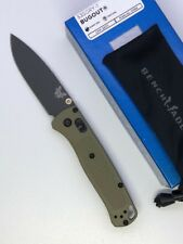 * New Benchmade 535GRY-1 Bugout Knife S30V Plain Edge Gray Blade Green Handles