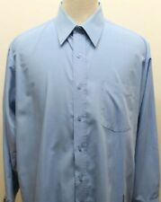 Bruno Boss Style In Italy Men's Long Sleeve Blue Dress Shirt Large 16-16 1/2