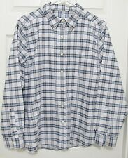 L.L. Bean Casual Long Sleeve Shirt - Men'S Large Regular - Blue Plaid - Nwot