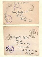AX147 1943-45 WW2 INDIA British FPO Covers {2}