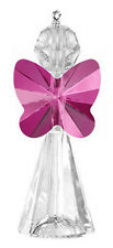 925 argent sterling et cristal Swarovski charme / pendentif Kit, fuchsia pink Angel